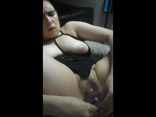 Chubby Girl Masturbates in Living Room (edging)